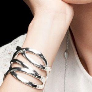 Silver Odette Cuff Bracelet by Stella & Dot, NWOT